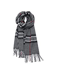 Scarf Female Pure Wool Spring and Autumn Warm Plaid Casual Wild Korean Fashion Scarf (Style : A)