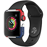 MightySkins Skin Compatible with Apple Watch Series 2 38mm - Dominican Flag | Protective, Durable, and Unique Vinyl Decal wrap Cover | Easy to Apply, Remove, and Change Styles | Made in The USA