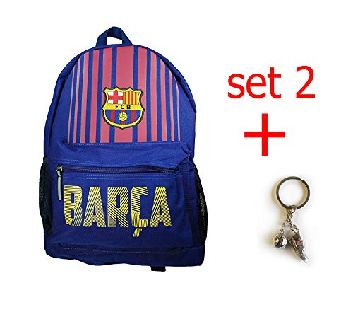FC Barcelona backpack school mochila bookbag cinch shoe bag official (new Barca set) by F.C. Barcelona