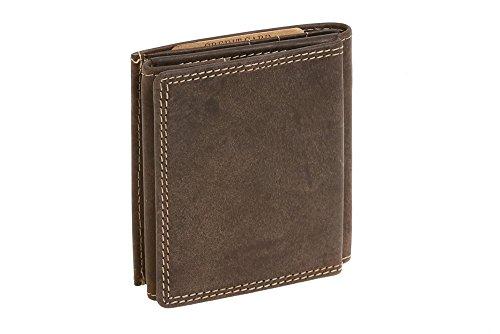Portafoglio Piccolo Boxed Style LEAS, Vera Pelle, marrone - ''LEAS Vintage-Collection''