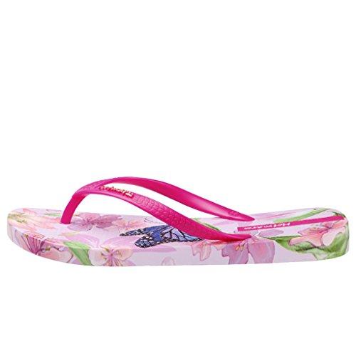 Sandali Rossa Infradito Piscina Estate Farfalla Donna Fiore Spiaggia Hotmarzz Flip Flops Rosa 7wSH6