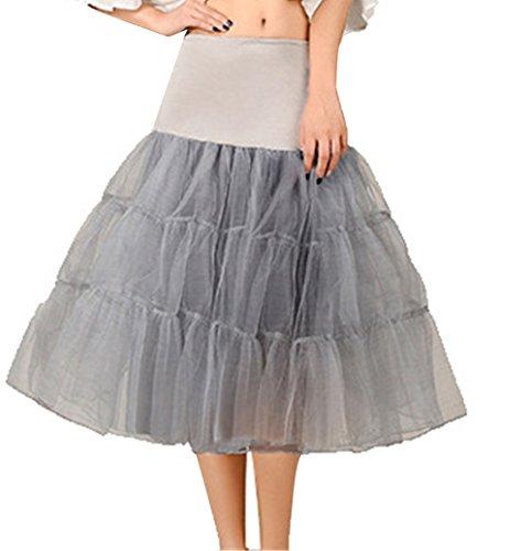 CoutureBridal - Enaguas cortas - para mujer gris