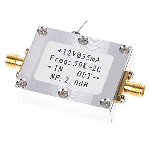 Amplifier Broadband Signal (YUNAWU RF Amplifier 50K-2GHZ Low Noise Amplifier Signal Receiver Broadband 31DB Gain)