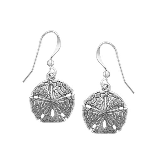 Kabana Sand Dollar Drop Earrings in Sterling Silver for sale  Delivered anywhere in USA