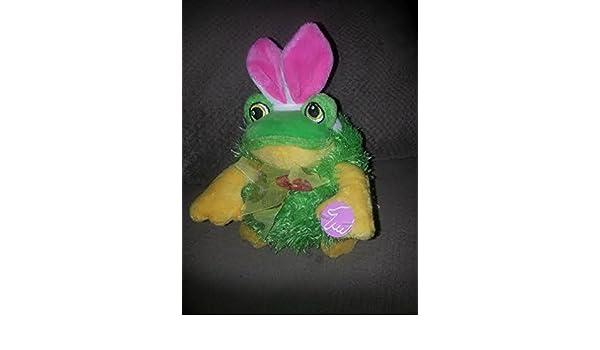 Amazon.com: Dan Dee Musical Singing Easter Frog Plush Rare ...
