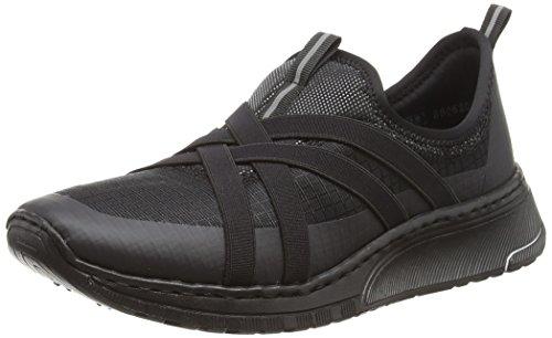 Sneaker Schwarz Schwarz Damen 03 Schwarz On Slip Rieker N5050 Schwarz qgOw6nI