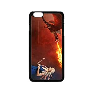 Flame of dinosaur and lovely girl Cell Phone Case for iPhone 6