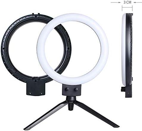 oineke Kshioe Infinite Dimming Double Color Temperature LED Ring Lamp and Mini Tabletop Tripod US Standard