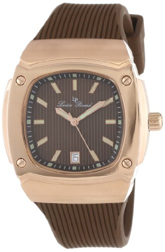 Lucien Piccard Women's LP-440-RG-04 Armada Brown Textured Dial Brown Silicone Watch