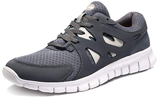 TSLA Men's Boost Running Walking Sneakers Performance Shoes, Zero Run(e621) - White, 7