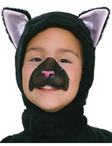 (Child's Cute Pet Animal Black Cat Hood and Nose Costume)