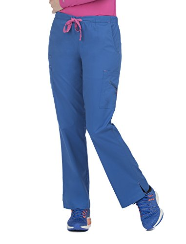Med Couture Women's Mobility 8723 Drawstring/Elastic Waist Pant- Royal/Passion Pink- 3X-Large from Med Couture