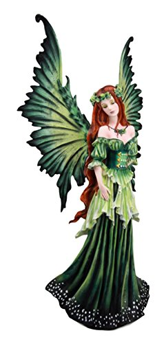 Ebros Amy Brown Large Lady of The Forest Green Tribal Fairy Collector Figurine 19.5