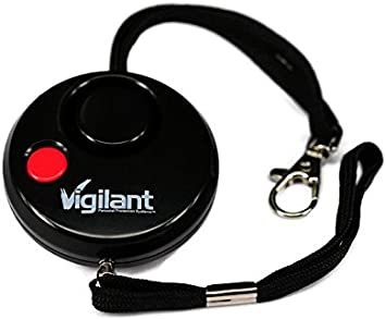 Available in Grey or Blue Vigilant 130 dB Personal Rape//Jogger//Student Emergency Protection Alarm with LED Light and Included AAA Batteries and Rip Cord Activation PPS8G Grey