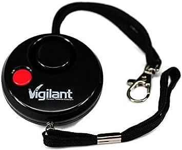 Alerta 130/db personales violaci/ón//jogger//estudiante protecci/ón de emergencia alarma con luz LED y bater/ías AAA incluidas y Rip cable de activaci/ón disponible en gris o azul