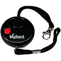 Vigilant PPS-13BL 135dB Night Vision Personal Alarm with Rip Cord Activation plus Red LED Night Vision Flashlight