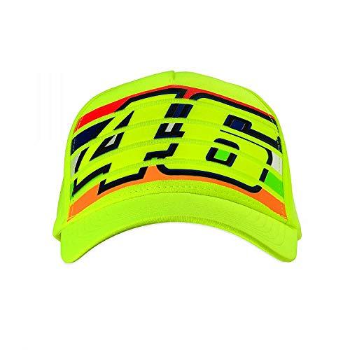 (Valentino Rossi Fluorescent Vr46 Stripes Snapback Cap (Default, Yellow))