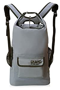 Chaos Ready Waterproof Backpack – Dry Bag - Premium Quality with Padded Shoulder Straps - Mesh Side Pockets – Front Pocket. For Hiking, Kayaking, Paddle Board, Boating, Skiing, Snowboarding