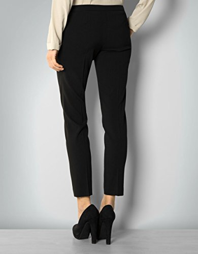 LIU JO Damen Hose Viskose Pant Unifarben, Größe: 42, Farbe: Schwarz