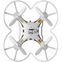 Owill FQ777-124 Micro Pocket Drone 4CH 6Axis Gyro Switchable Controller Enjoy Flying Anywhere Anytime (White)