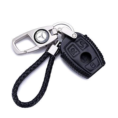 QZS Mercedes Benz Key Chain Fob Cover Shell Remote Case Bag Black For E C R CL GL SL CLK SLK ()