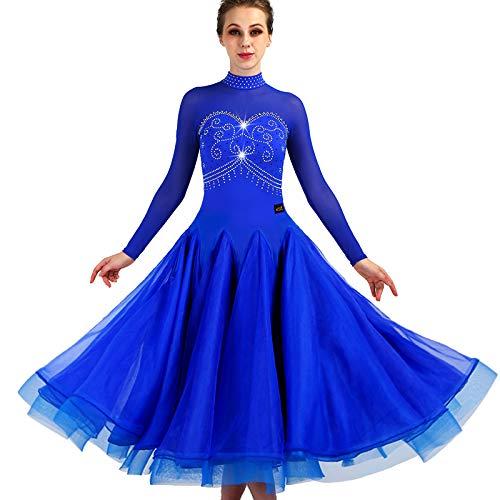 優れた品質 garuda 社交ダンスドレス garuda ダンス衣装 モダン 青色 ダンスウェアロングワンピース 青色 XXL サイズオーダー可 B07JK168LY 青色 XXL, コスメティックコリア:a43d4b0f --- a0267596.xsph.ru
