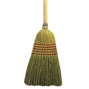 Parlor Broom, Corn Fiber Bristles, 42 Wood Handle, Natural, Sold as 1 Each