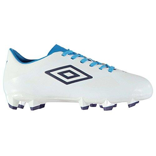 Umbro Niños Velocita II Club HG Botas de fútbol Blanco/Azul