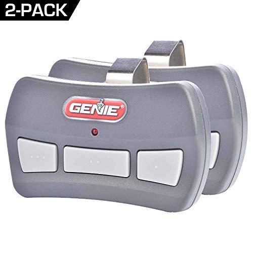 Genie 3-Button Garage Door Opener Remotes (2 Pack) - Each Remote Controls Up To 3 Garage Door Openers - Compatibility Only With Genie Intellicode Garage Door Openers Using 390MHZ - Model GITR-3 (Remote Control Models)