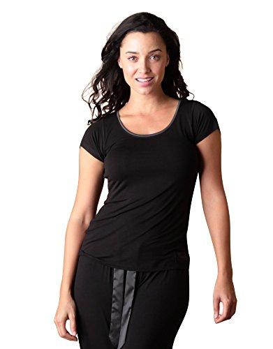 Faceplant Dreams Dreamwear Bamboo Short Sleeve Shirt (Medium, Black)