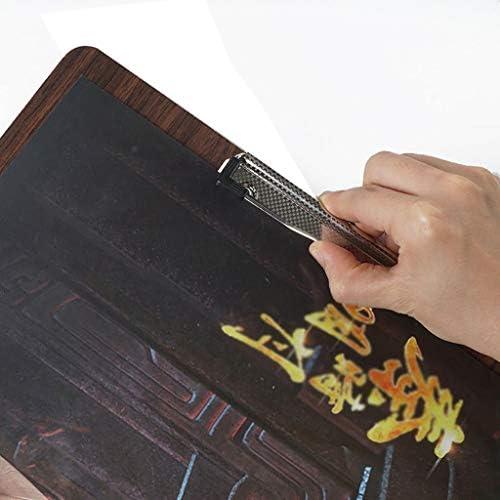 Presse-papiers Multifonctionnel de Planche /à Dessin dart Planchette d/écriture de Dossier d/écriture A3 Fournitures de Bureau Lily Presse-Papier Classique Presse-papiers en Bois A3