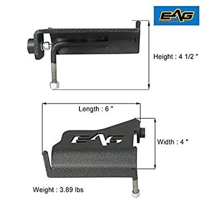 EAG Foot Peg Rest Pedal Pair Fit for 2007-2020 Jeep Wrangler JK: Automotive