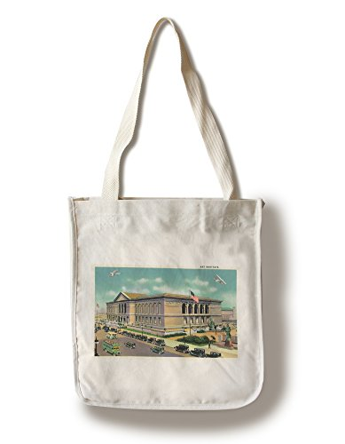 Lantern Press Chicago, Illinois - Exterior View of The Art Institute (100% Cotton Tote Bag - Reusable)