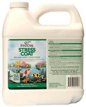 PondCare 317163041406 140d 64 Oz Stress Coat Fish and Water Conditioner by PondCare