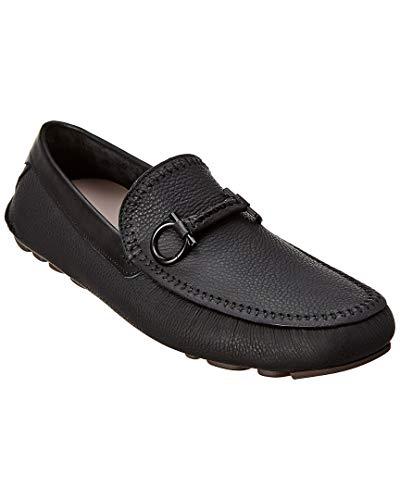- Salvatore Ferragamo Gancini Leather Loafer, 8.5 Ee, Black