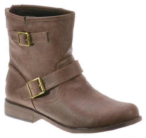Breckelle Fresno-11, Cute Stylish Buckle Riding/Combat Ankle Boot