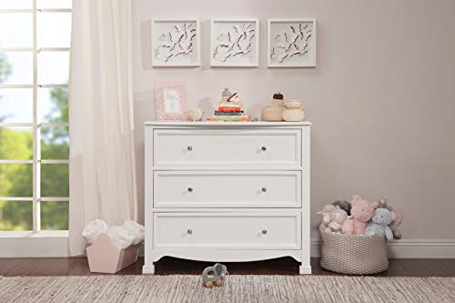 DaVinci Kalani 3 Drawer Dresser, White (Dresser Small Drawers 3)