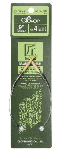 Clover Bamboo Circular Knitting Needles Takumi, 9-Inch Size 4 by Clover