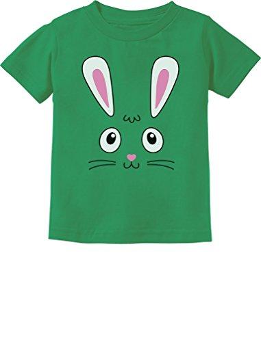 Tstars - Little Easter Bunny Face Cute Toddler Kids T-Shirt 2T (Easter Green T-shirt)