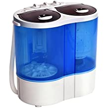 Giantex Portable Mini Washing Machine Gravity Drain Compact Twin Tub 15lb Washer Spinner Furni