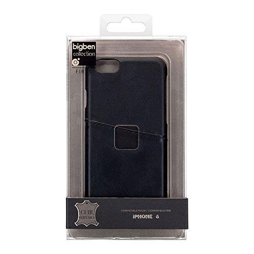 BigBen BC312901 Leder Schutzhülle glatt für Apple iPhone 6 in schwarz