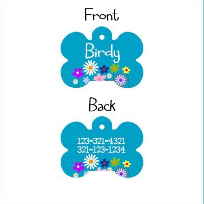 Picture of Cute Bone Shaped Dog ID Tag, Customizable Information Badge for Dogs and Cats, Please don't forget to give us the Name you would like to have on the Tag, by Little Paw Store LLC