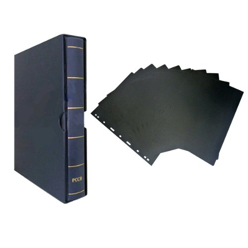 nava-combo-luxury-pu-leather-stamp-banknote-collection-binder-album-10pcs-seperator