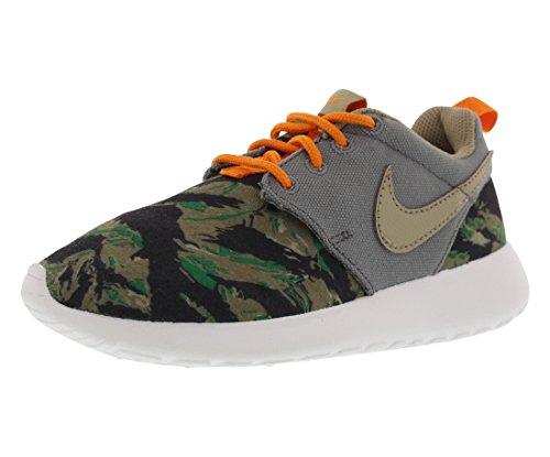 Nike Roshe One Print Gradeschool Boy's Casual Shoes Size US 3, Regular Width, Color Cool Grey/Seaweed/Medium Olive