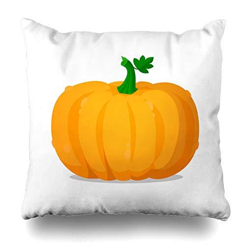 Suesoso Decorative Pillows Case 18 X 18 Inch Pumpkin Throw Pillowcover Cushion Decorative Home Decor Nice Gift Garden Sofa Bed Car]()