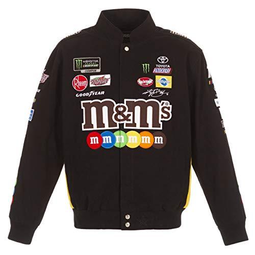 Kyle Busch M&M Black Cotton Jacket Size 2XLarge