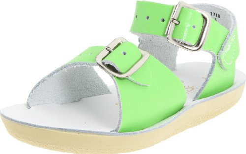 (Salt Water Sandals by Hoy Shoe Sun-San Surfer,Lime Green,6 M US Toddler)