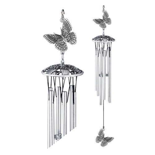 1pc, Pewter Butterfly Wind Chimes