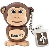 EMTEC Animal Series 4 GB USB 2.0 Flash Drive, Monkey