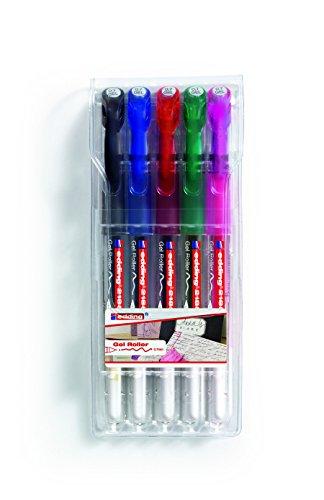 edding 2185 Gel-Roller (Standardfarben), 5-Stück , 0,7mm